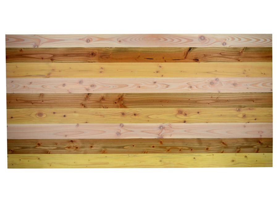 Cabecero para cama 3 tonos de madera vintage - Cabecero de cama de madera ...