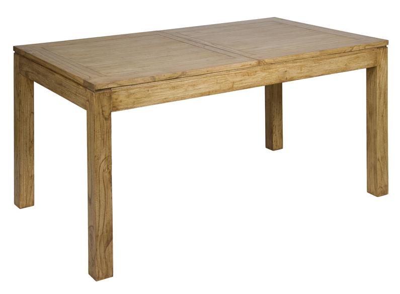 Mesa extensible en madera de acacia ios 90 x 160 x 80 cm - Mesa acacia extensible ...