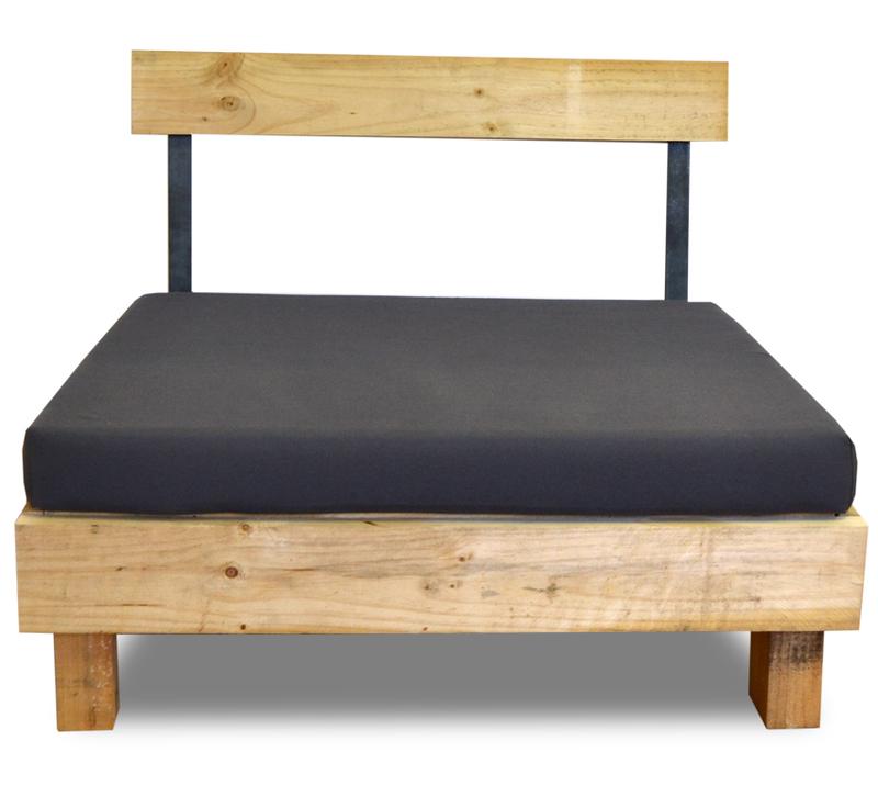 Respaldo para sof de madera con hierro 100 cm - Respaldo para sofa ...